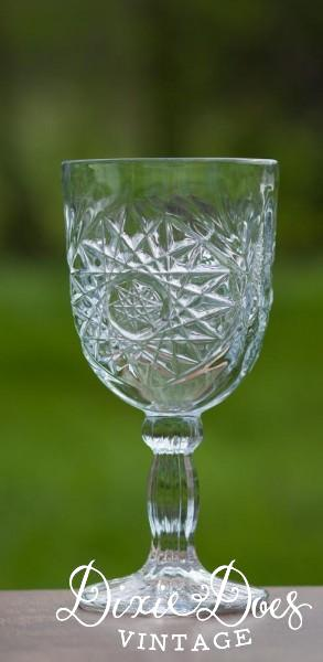 Pressed Clear Glass Goblets 1 95