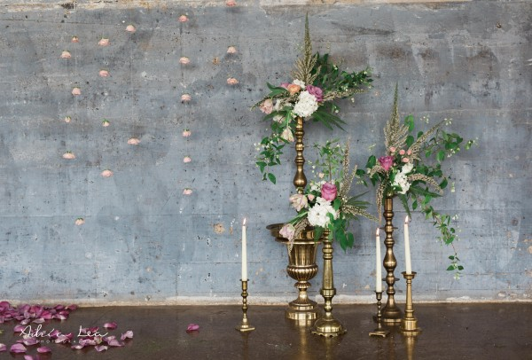 Ceremony Vintage Brass Candlesticks