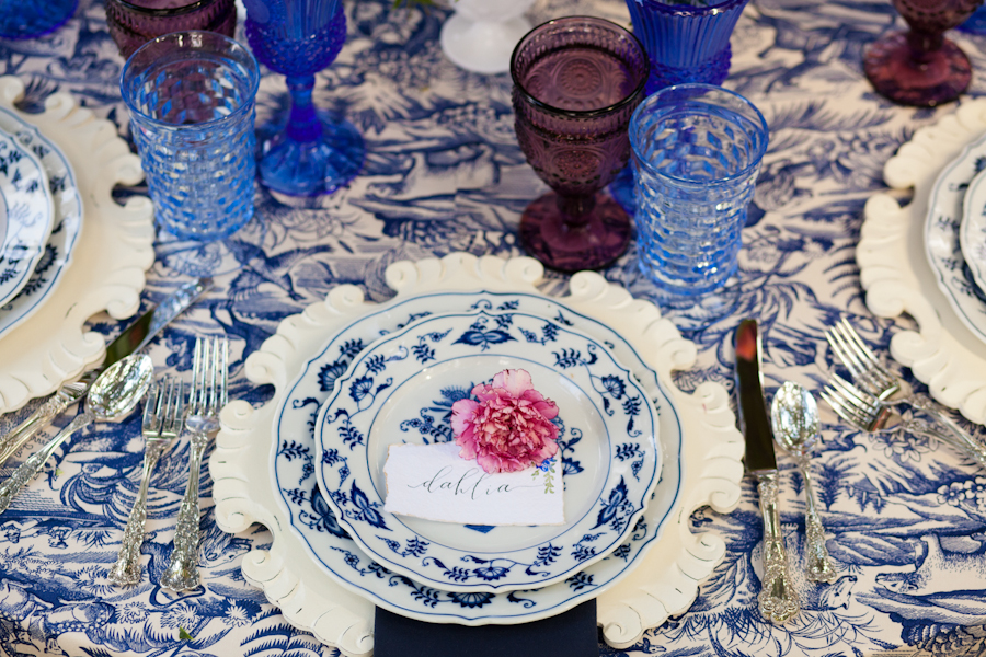 Mixand Match Blue and White Vintage China