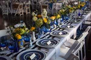 Blue and White Head Table