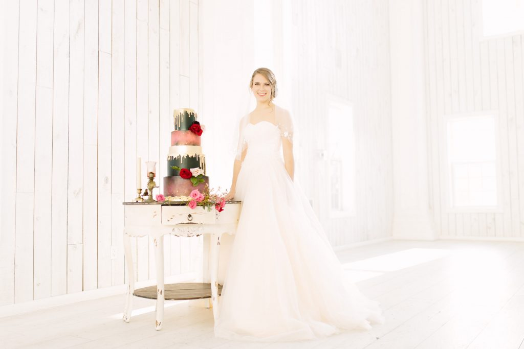 Dress By Elizabeth Lee Bridal Boutique Wedding Cake The London Baker Hair And Makeup Amy Patrice Table Dixie Does Vintage Rentals