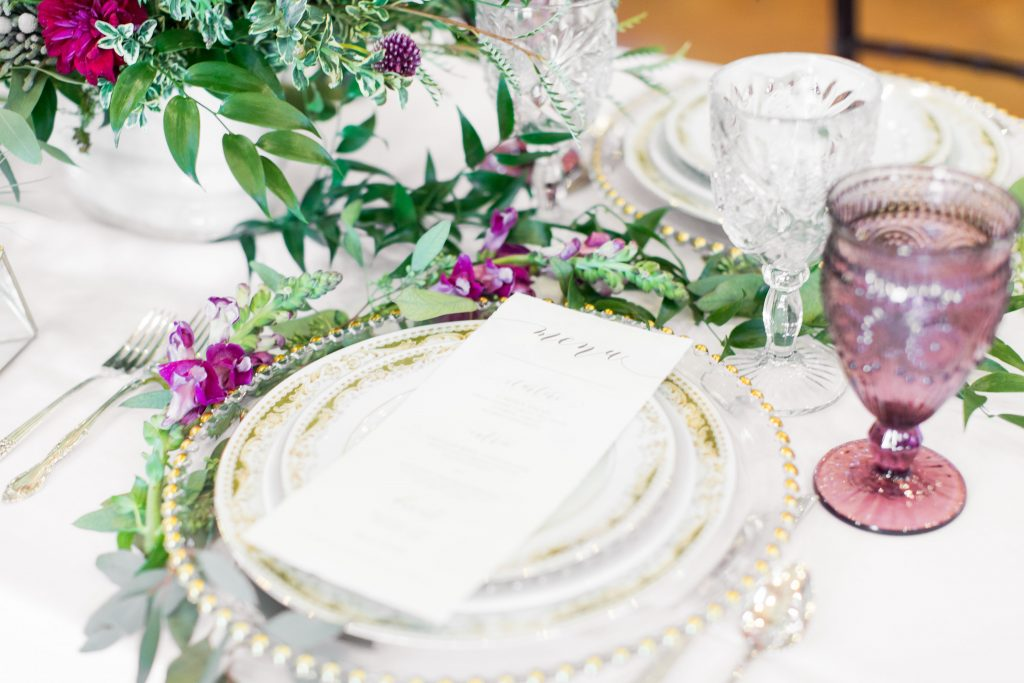 Vintage China, Flatware, Glassware, and Chargers from Dixie Does Vintage in Dallas TX photo by Michelle Rice Photography