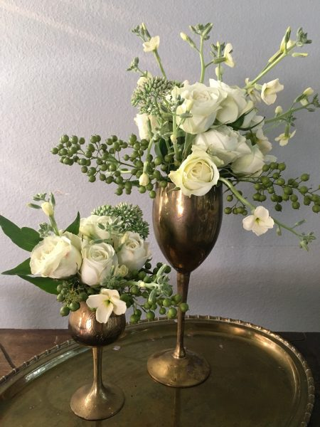 Brass Goblets For Floral Centerpieces
