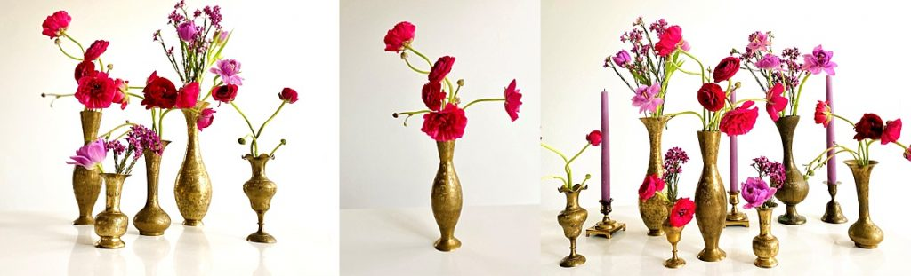 use bud vases for your wedding ceremony and wedding reception florals florals