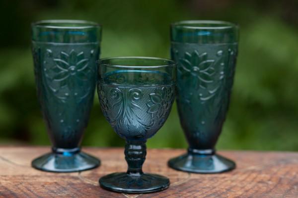 Vintage Riviera Blue Glassware 2 10 Each