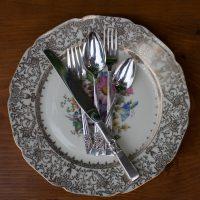 vintage silver flatware rental