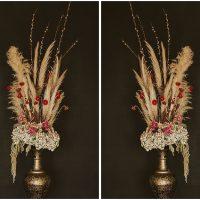brass floor vase for wedding aisle ceremony decor