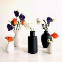 black white vase
