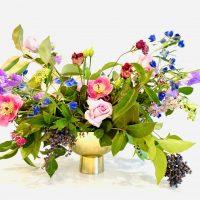 gold floral vase rental
